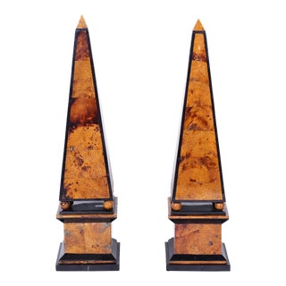 Penshell Obelisks - A Pair For Sale
