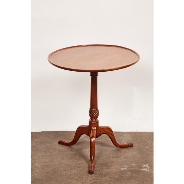 English Late 18th Century George III Mahogany Side Pedestal Table For Sale - Image 3 of 7