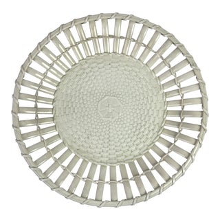 French Basketweave Creamware Platter For Sale