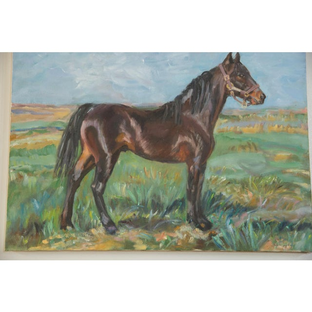""":: """"Brown Horse"""" painting by Chappaqua, NY artist Grace B. Keogh. Beautifully painted with attention to detail, creating a..."""