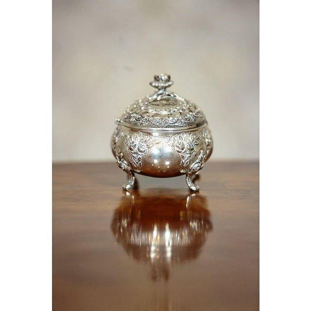 Mid 20th Century Silver Sugar Bowl For Sale - Image 4 of 9