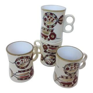 Vintage Holt Howard Japan Mid Century Modern Mugs - S/4 For Sale