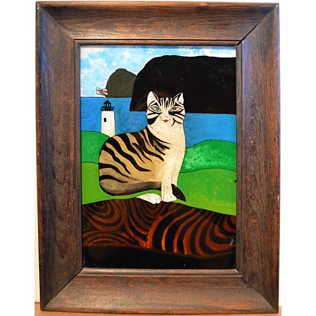 Spanish Folk Art Reverse Painting For Sale - Image 6 of 6