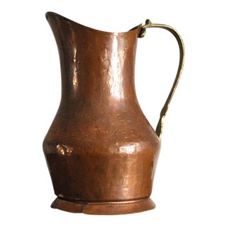 Vintage Rustic Copper Pitcher