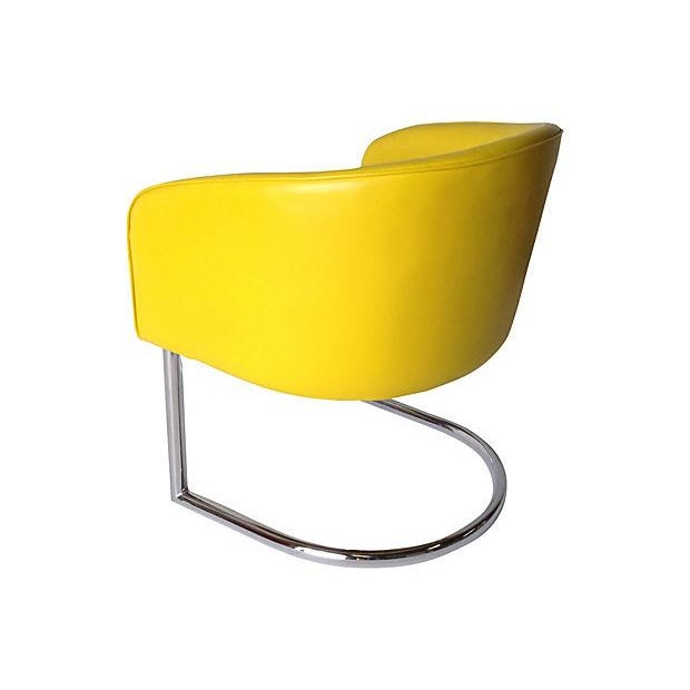 Milo Baughman Chrome Tub Club Chair - Image 5 of 7