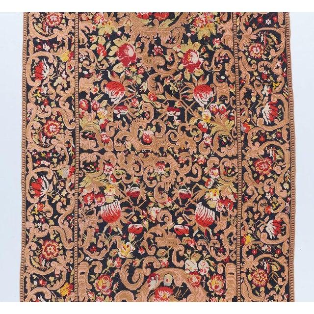 Traditional Black Ground Oversized Karabagh Long Rug For Sale - Image 3 of 6