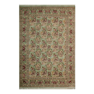 "William Morris Pak-Persian Bessarabian Gray Red Wool Rug - 8'2"" x 10'1"""