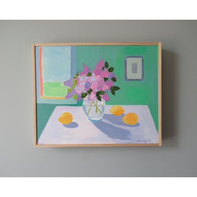 Anne Carrozza Remick Lilac Flowers and Lemons by Anne Carrozza Remick For Sale - Image 4 of 7