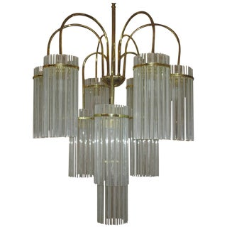 Cascading Glass Chandelier By Gaetano Sciolari
