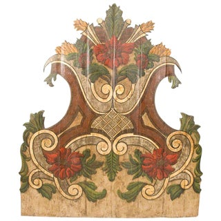19th Century Portugese Polycromed Headboard