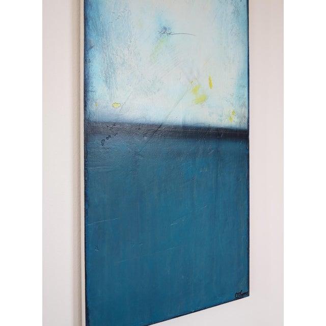 Blue Velvet Sunrise, I & II. Mixed Media Oil on Panel - Pair - Image 7 of 11