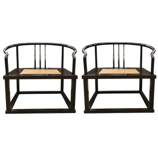 Modern Roundback Chairs - a Pair For Sale
