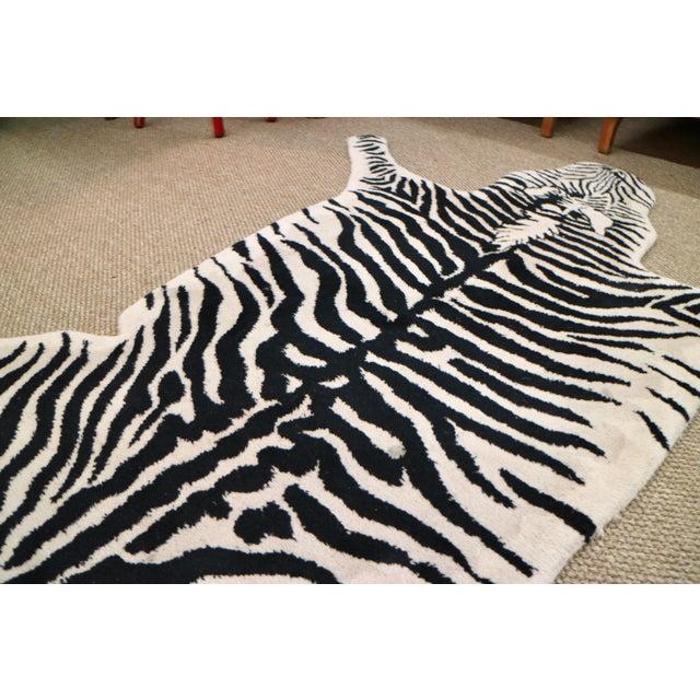 Wool Zebra Rug - 3′11″ × 6′ - Image 4 of 5