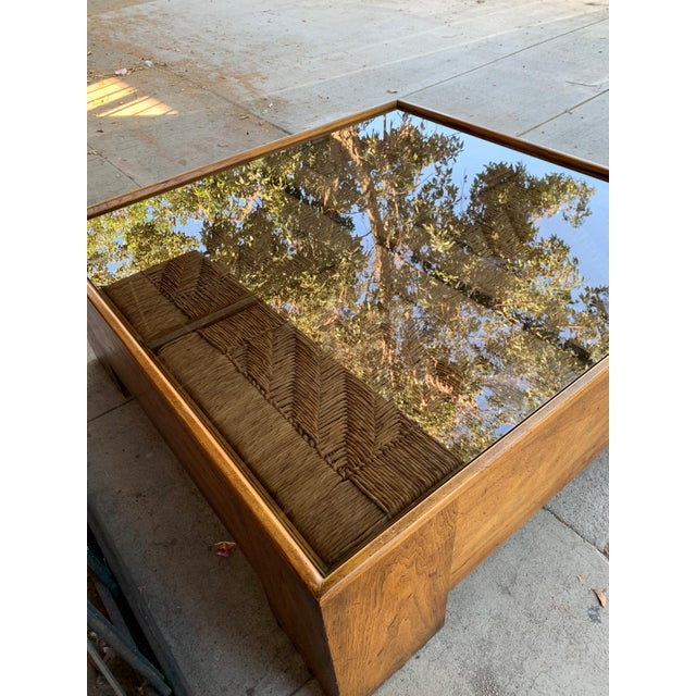 1960s Mid Century Modern Drexel Heritage Wood Briar Coffee Table For Sale - Image 9 of 13
