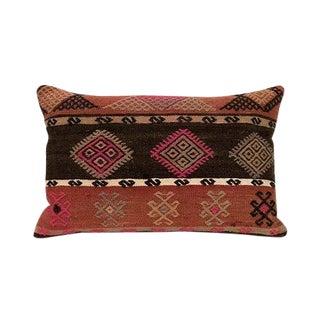 Kim Salmela Turkish Bohemian Kilim Lumbar Pillow For Sale