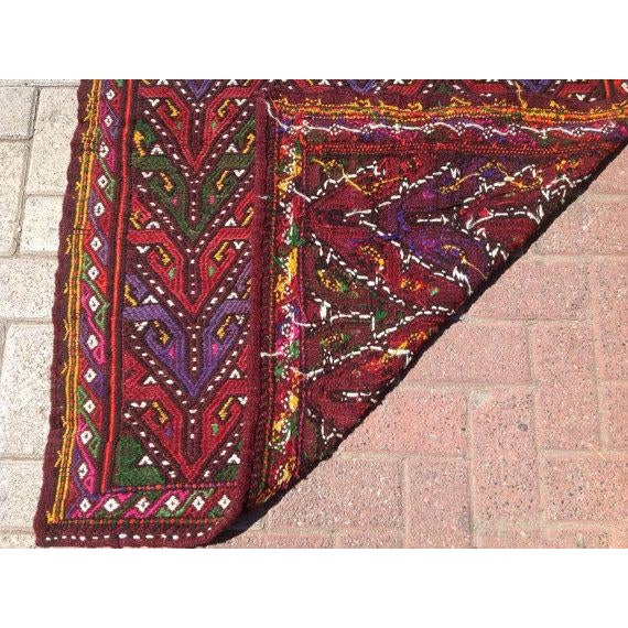 Vintage Turkish Kilim Rug - 3′3″ × 4′4″ - Image 6 of 6