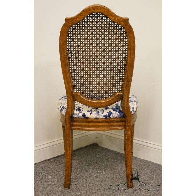 Brown Thomasville Furniture Tapestry Collection Cane Back Dining / Side Chair For Sale - Image 8 of 12