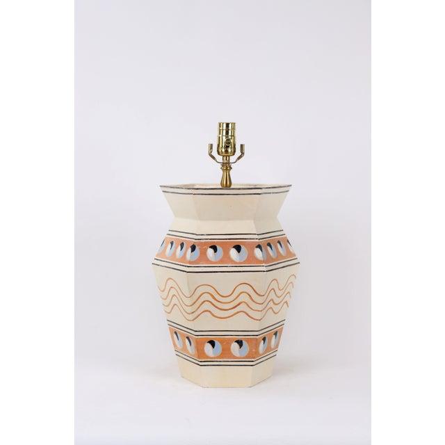 Modern Hexagonal Urn Lamp For Sale - Image 4 of 4
