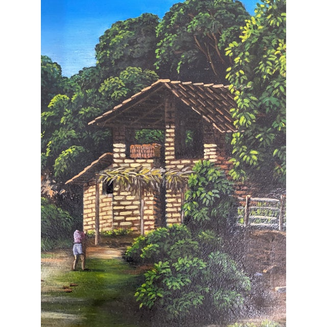 Traditional Late 20th Century House and Landscape Painting by Manuel Perez, Framed For Sale - Image 3 of 4