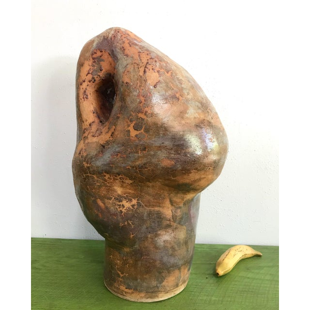 Late 20th Century Large Biomorphic Ceramic Sculpture Studio Pottery by Marylin Woods For Sale - Image 5 of 8