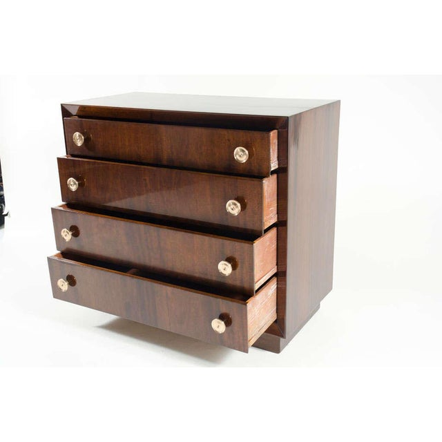 Brass Pair of Bachelor's Chests by Modern Age For Sale - Image 7 of 10
