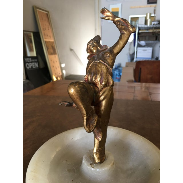 Art Deco Ashtray/Ring Tray With Female Harlequin Dancer Statue by Frankart For Sale In Los Angeles - Image 6 of 8