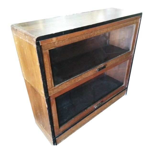 1940s Art Deco Lundstrom Barrister Stacking Bookcase