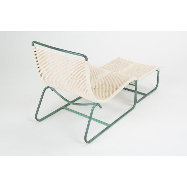 White Sleigh Chair and Ottoman by Walter Lamb for Brown Jordan For Sale - Image 8 of 13