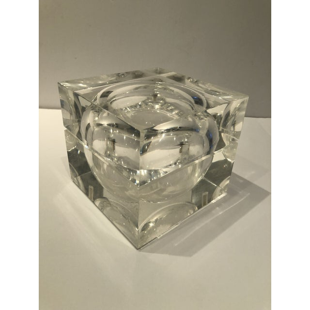 1960s Mid-Century Modern Lucite Ice Bucket For Sale - Image 9 of 9