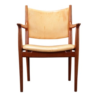 1960s Scandinavian Modern Johannes Hansen Wegner Armchair For Sale