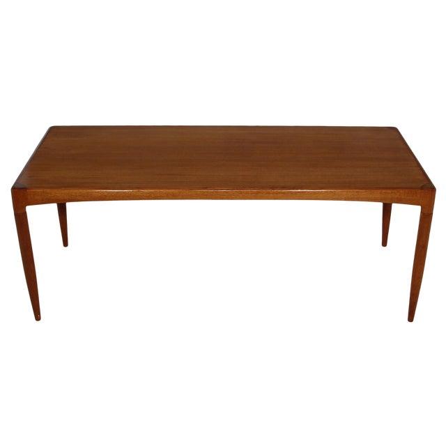 Mid Century Danish Teak Coffee Table For Sale