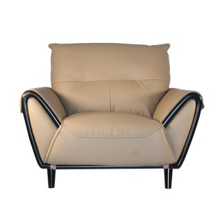 Modern Pasargad DC Charlotte Leather Armchair For Sale