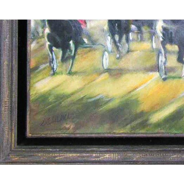 Large Original Oil Painting of Harness Horse Race - Image 4 of 7