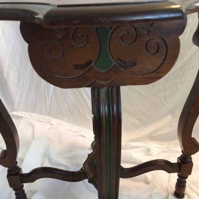 Mahogany and Walnut Aesthetics Movement Lamp Table - by St. Johns Tables Michigan For Sale In Sacramento - Image 6 of 13