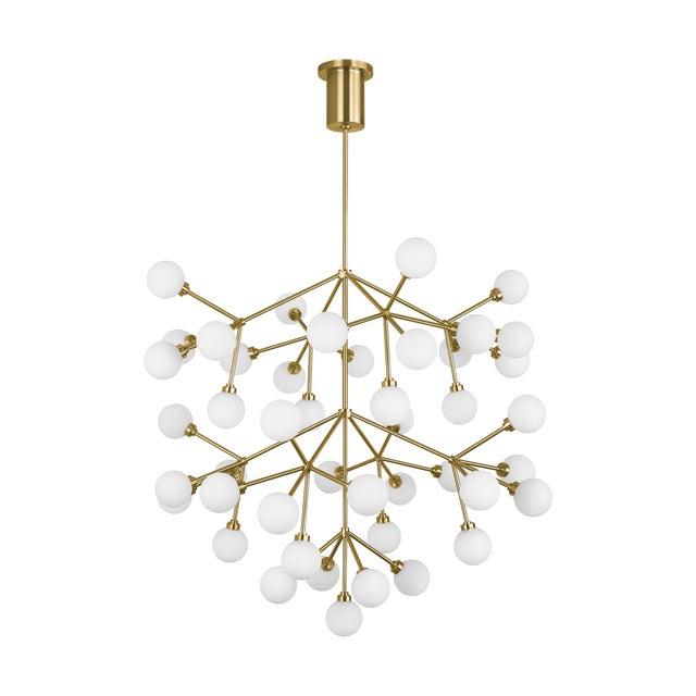 Mid-Century Modern Mara Grande Chandelier LED Aged Brass For Sale - Image 3 of 3