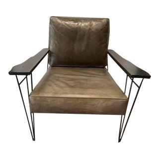 Vintage Epicurean Leather Chair For Sale