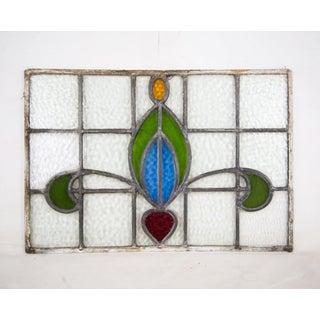 19th Century Art Nouveau Fleur-De-Lis Stained Glass Window Preview