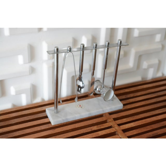 1970s 1970s Mid Century Modern Bar Tools Set For Sale - Image 5 of 7