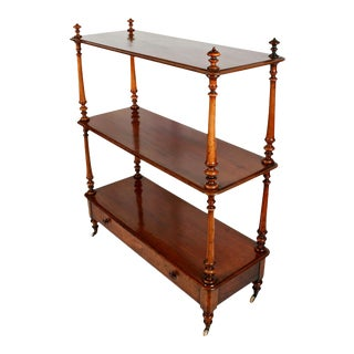 English Serving Trolley or Console Server of Walnut For Sale