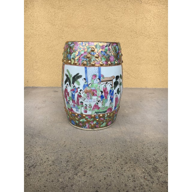 Contemporary Chinoiserie Garden Stool For Sale - Image 11 of 12