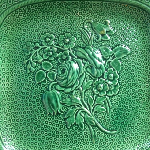 Antique English Majolica Plate - Image 3 of 4