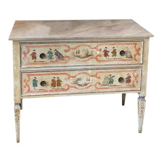 Vintage French Painted Two Drawer Chest For Sale