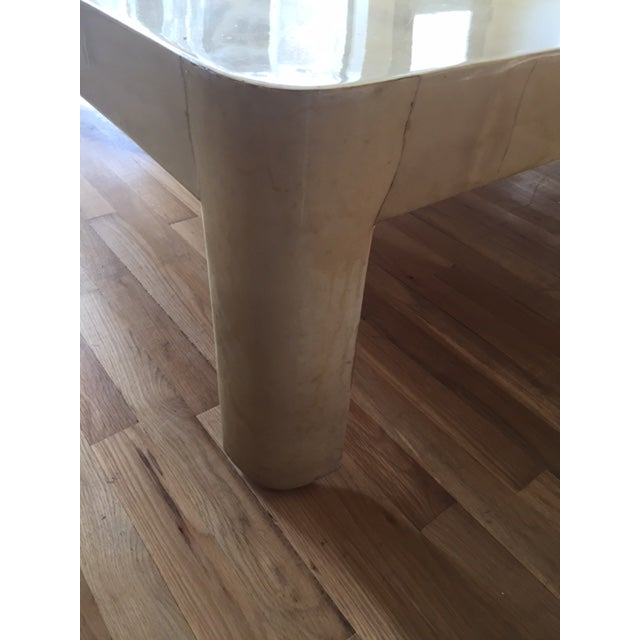 Karl Springer Style Monumental Goatskin Cocktail Table - Image 3 of 8