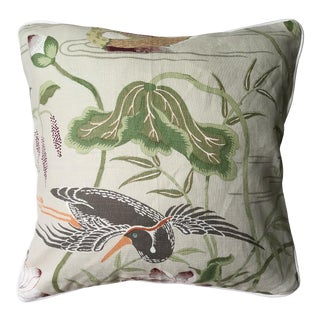Schumacher Lotus Garden Pillow For Sale