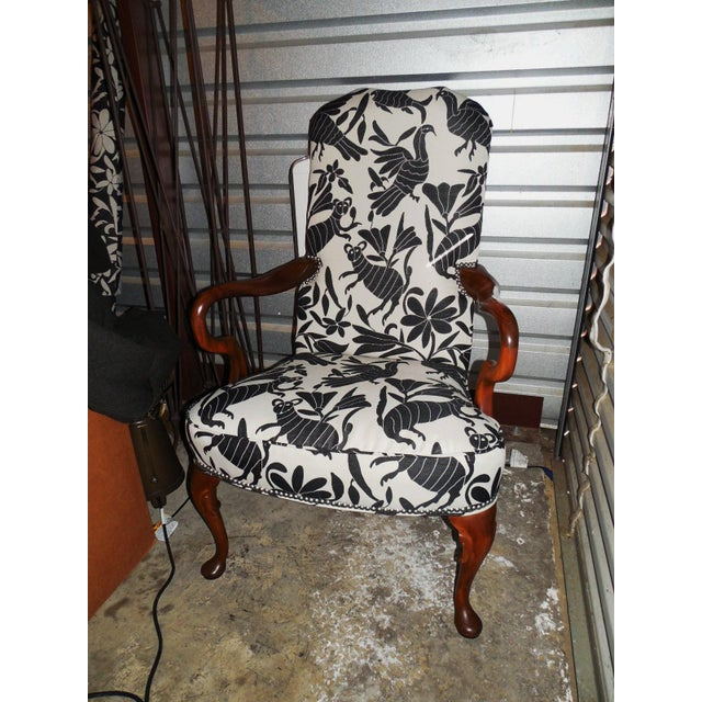 Hickory 1970's Queen Anne Otomi Armchair - Image 2 of 10