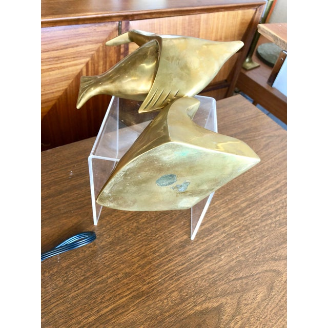 Mid 20th Century 20th Century Nautical Brass Angelfish Table Accent For Sale - Image 5 of 7