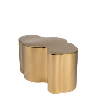 Abstract Modern Kate Gold Coffee Table For Sale
