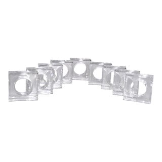 Mid-Century Acrylic Napkin Rings - Set of 9