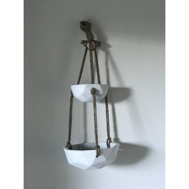 Contemporary Concrete Hanging Planter For Sale - Image 3 of 3