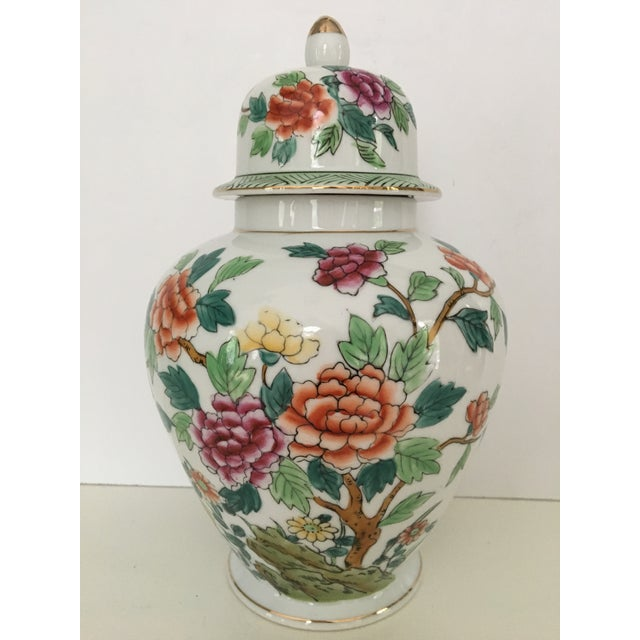 Mid-Century Norleans Chinoiserie Lidded Urn - Made in Japan For Sale - Image 10 of 10